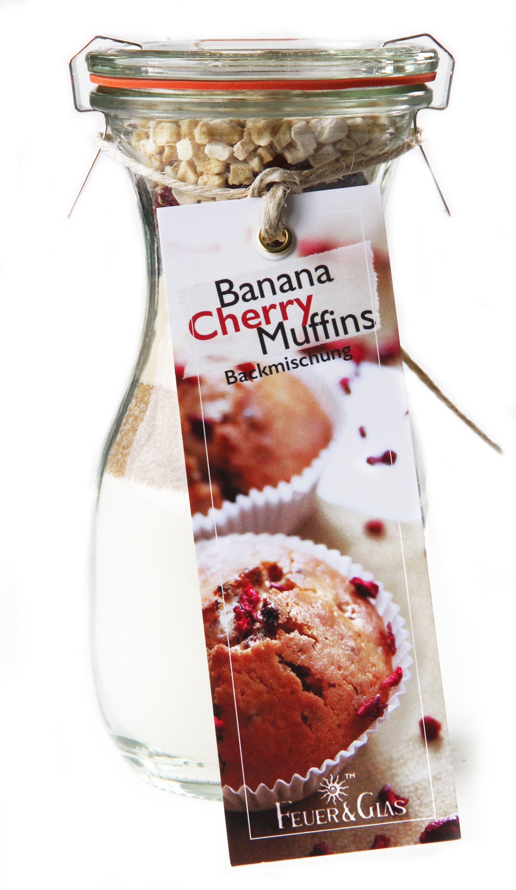 Banana Cherry Muffins  Mini ( 250 ml)
