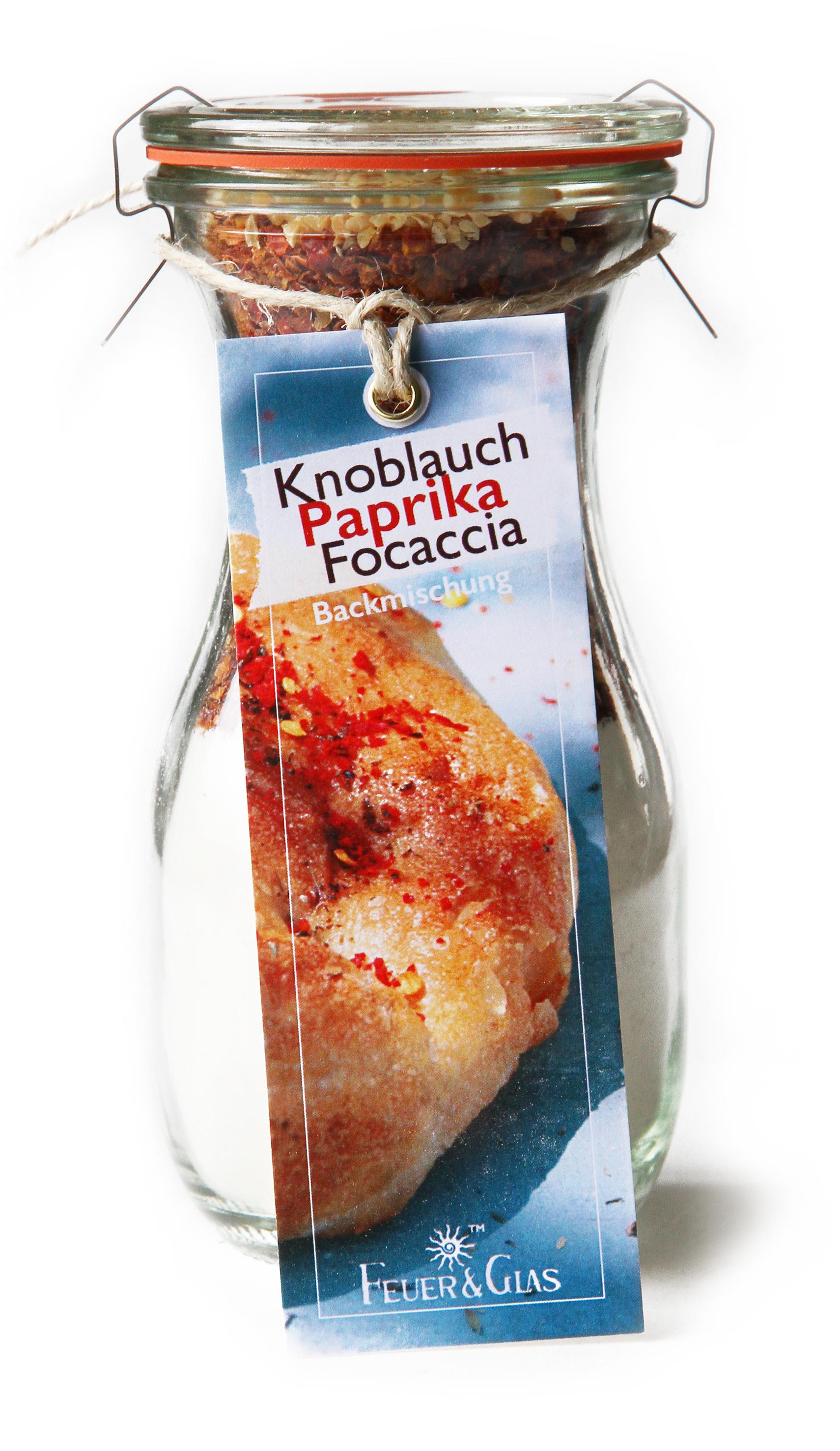 Knoblauch Paprika Focaccia Mini (250 ml)