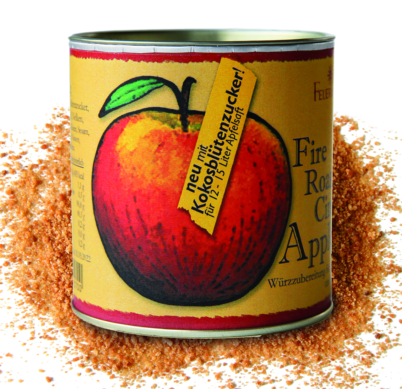 Das neue Bio Fire Roasted Cinnamon Apple Spice 112 Stück