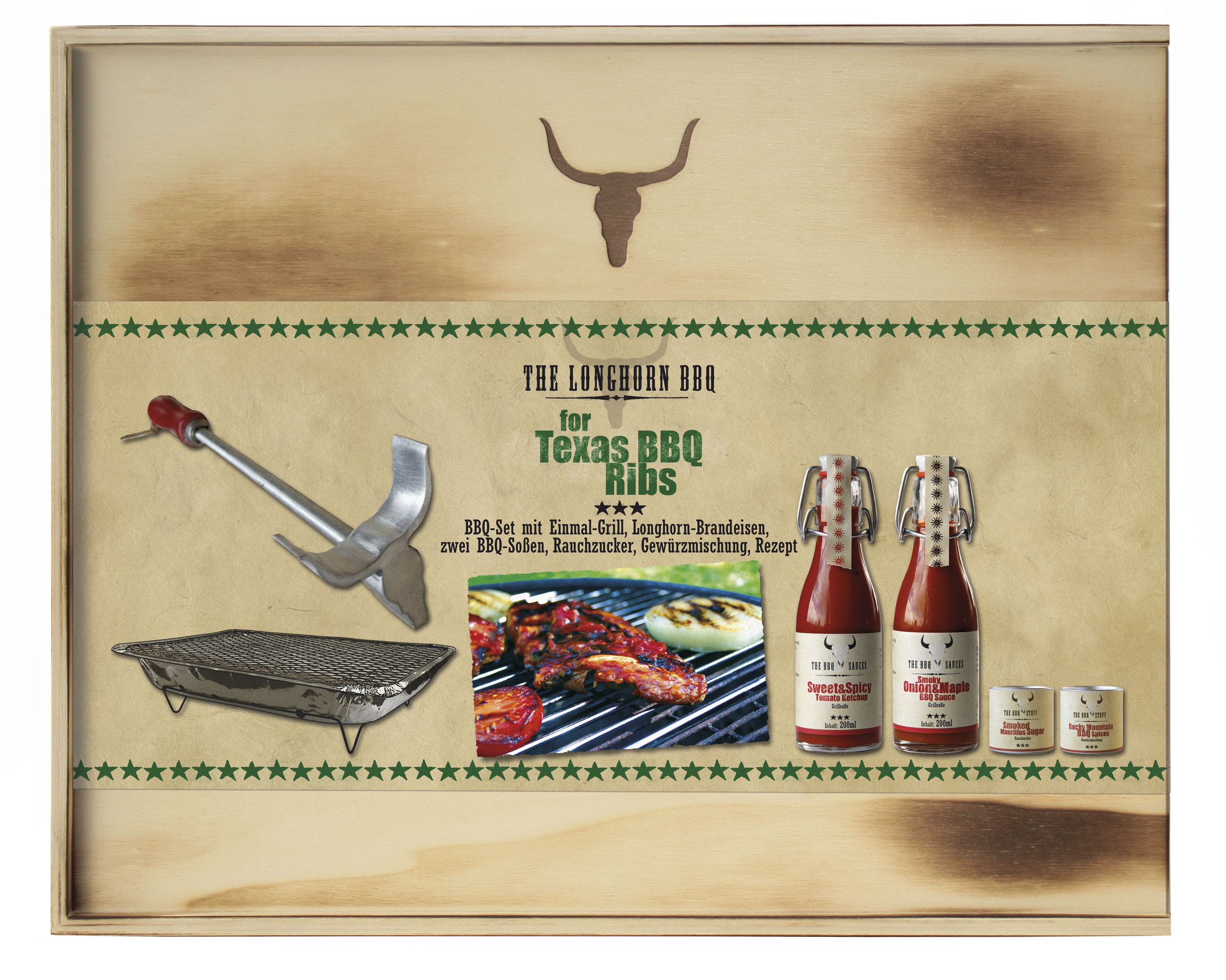 The Longhorn BBQ Kit - Texas BBQ Ribs