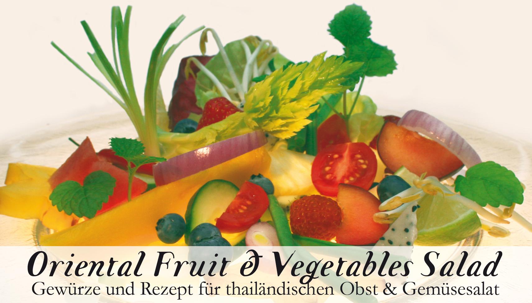 Oriental Fruit & Vegetable Salad