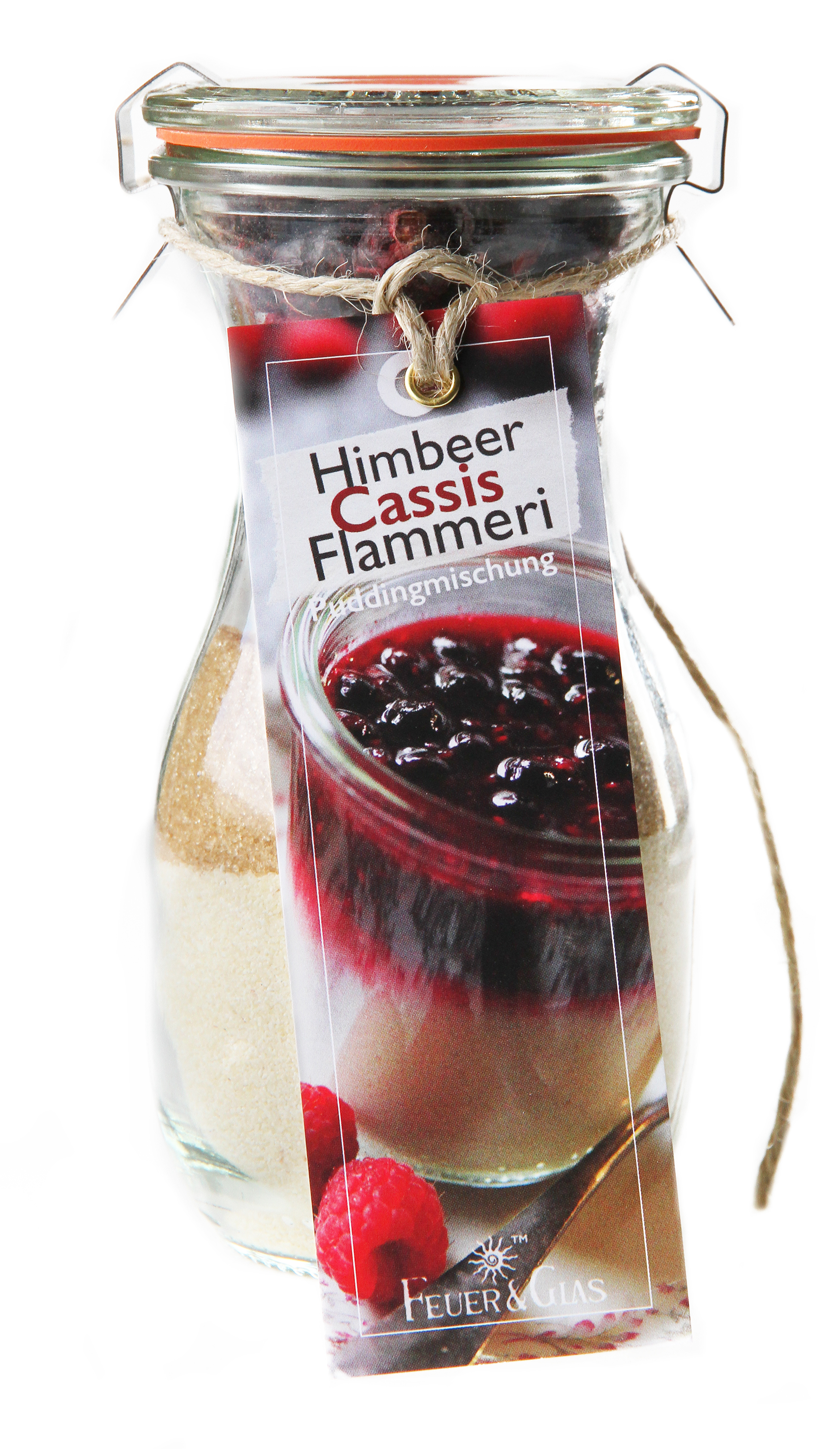 Himbeer Cassis Flammeri Mini ( 250 ml)