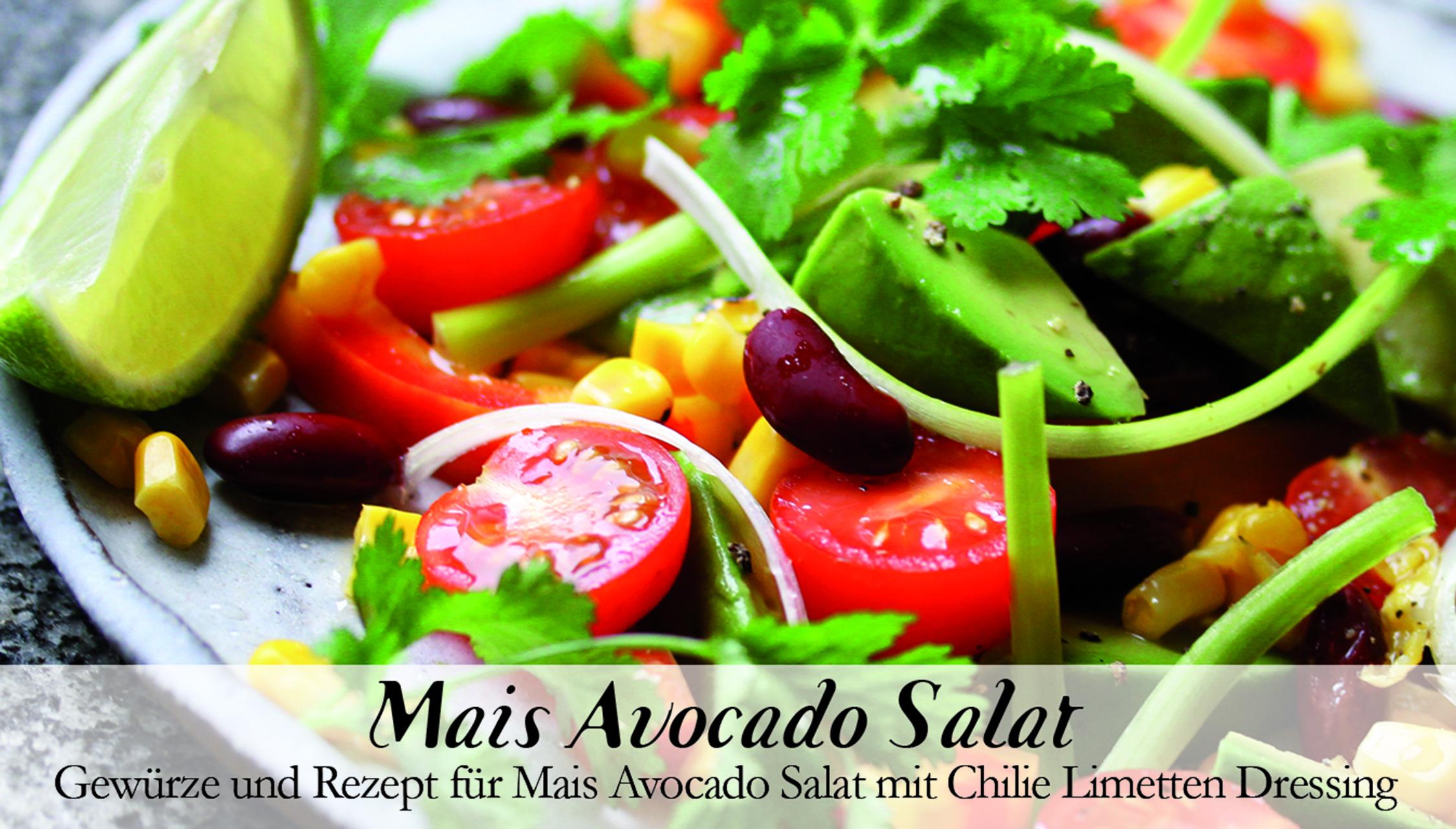 Mais Avocado Salat