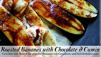 Roasted bananas with Chocolate & Cumin