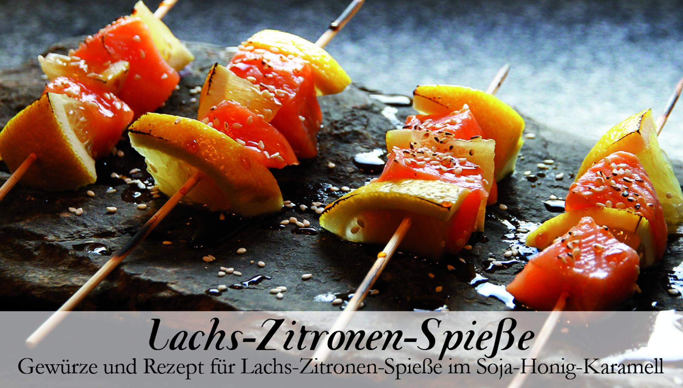Lachs-Zitronen-Spieße-Gewürzkasten