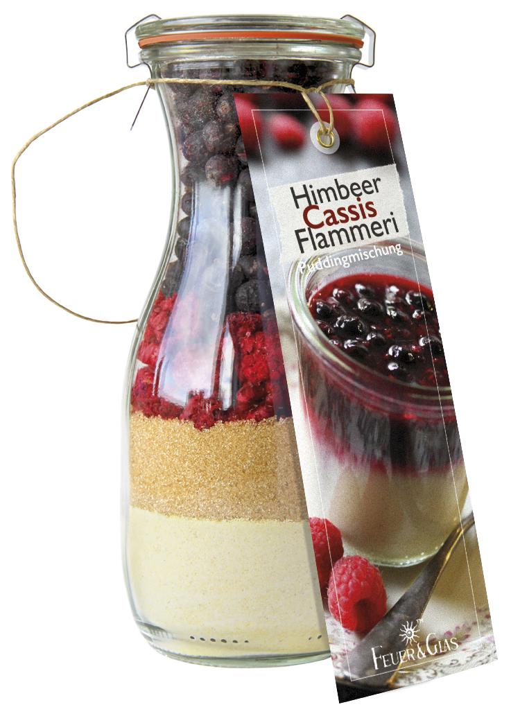 Himbeer Cassis Flammeri Mini ( 250 ml)