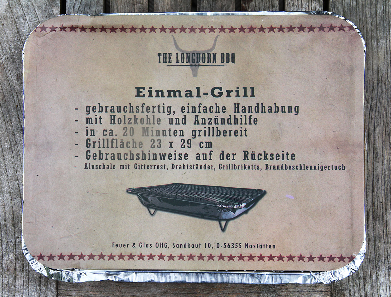 Einmal-Grill, 24 Stück ( 1,20€ / Stück)
