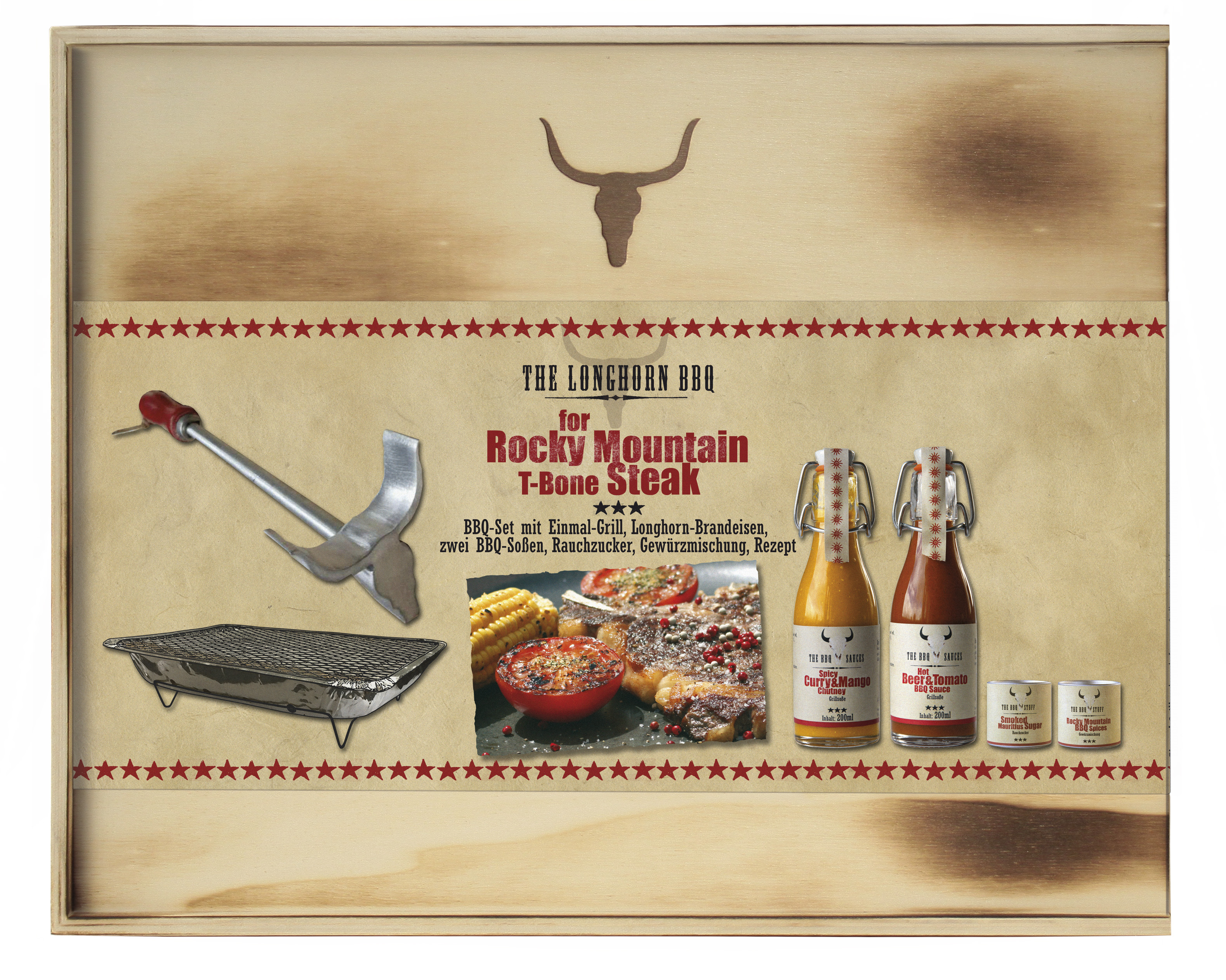 The Longhorn BBQ Kit - Rocky Mountain T-Bone Steak